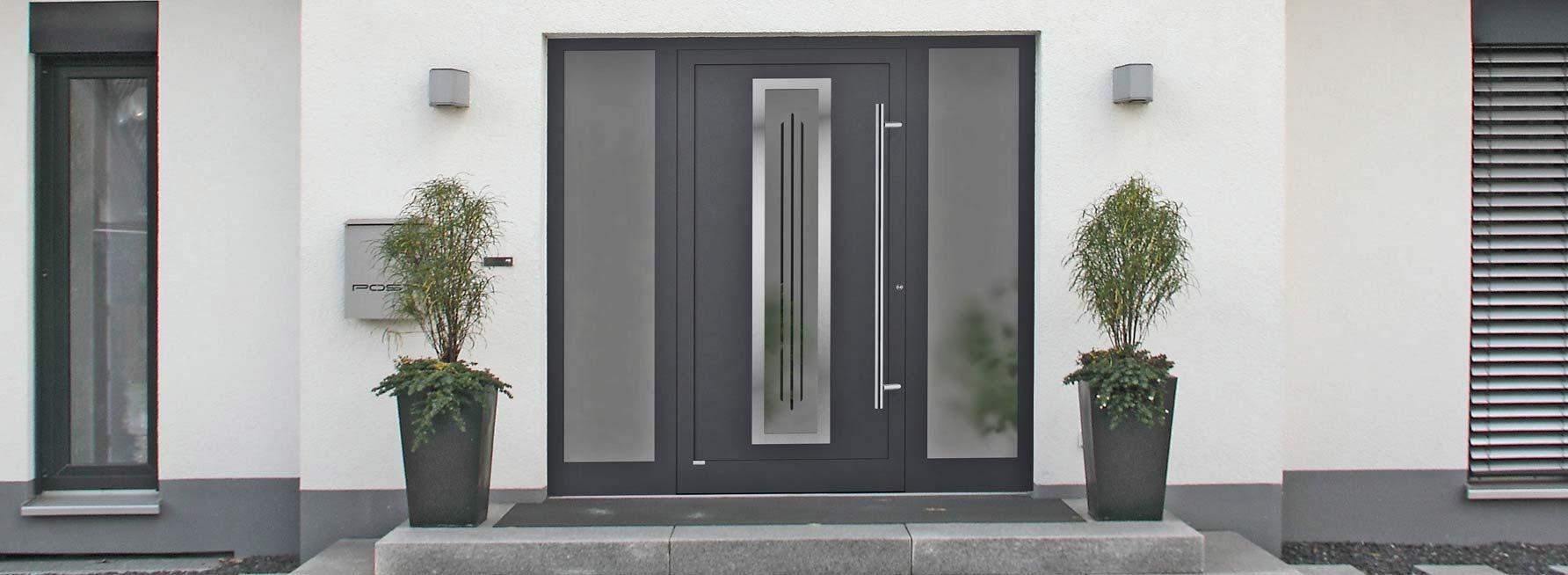 Haustüren modern grau mit seitenteil  Haustüren Holz Mit Seitenteil: Holz aluminium haustÜren by josef ...